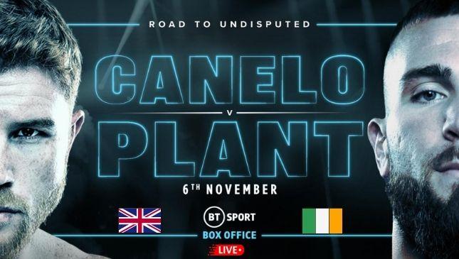 Canelo vs Plant live online on BT Sport Box Office